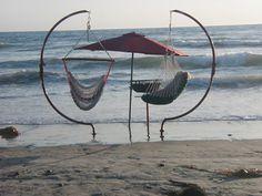 Beach Swing C Frame. $350.00 USD, via Etsy.