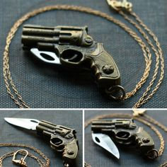 Gun-shaped Necklace Knife