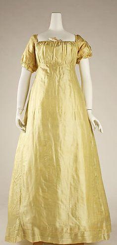Wedding dress, 1812, American.
