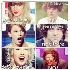 harry styles and taylor swift funny memes - Google Search