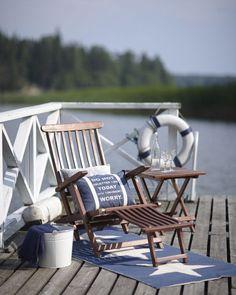 Summertime living | coastal home décor | coastal interiors | nautical interiors