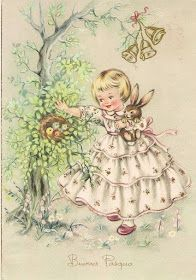 Soloillustratori: Perle Vintage Birthday Cards, Vintage Greeting Cards, Vintage Postcards, Easter Illustration, Retro Illustration, Vintage Pictures, Vintage Images, French Vintage, Easter Art