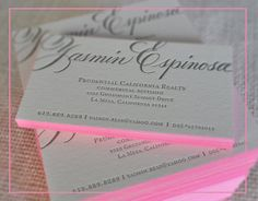200 Calligraphy Letterpress Business Cards by dellacarta on Etsy