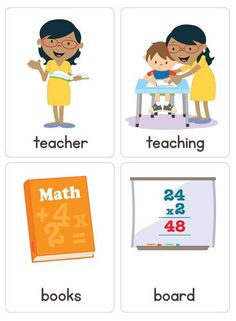 """Our """"Community Helper Flash Cards"""" are a great addition to your classroom or home.  You will receive 40 flash cards showing 10 different occupations and associated vocabulary."""