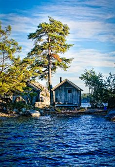 Sweden, cottage in the Archipelago Places To Travel, Places To See, Sweden Travel, Scandinavian Countries, Voyage Europe, Cabins And Cottages, Stockholm Sweden, Archipelago, Belle Photo