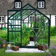 Serre de jardin 6,2m² verte et verre horticole Popular Halls sur ma-serre-de-jardin.com