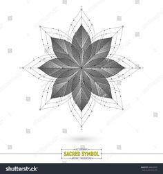 Vector Mandala Esoteric Sacred Symbol Art Illustration | sacred, symbol, logo, logotype, icon, magic, esoteric, mandala, psychedelic, lotus, flower, petal, geometric, yoga, mental, health, spiritual, spirit, vector, abstract, background, shape, grey, monochrome, white, line, art, illustration, texture, object, 3d, deco, decorative, knowledge, symmetry, life, design, element, dotted, stipple, fractal, medallion, pattern, kaleidoscope, meditation, healing, mistery, mystic, riddle, enigma