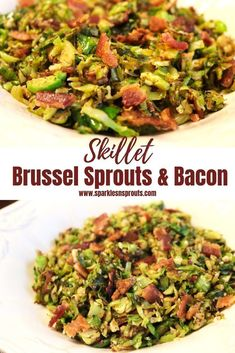 Skillet Brussels Sprouts and Bacon is the perfect side.  It is quick, easy and loaded with tons of flavor and it is KETO friendly!  Oh and don't forget...there is BACON in it! . #keto #side #brusselssprouts #bacon #quickside #sparklesnsprouts #ketoside #ketorecipe