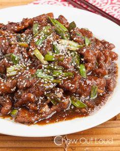 Mongolian Beef (P.F. Chang's copycat) Recipe - RecipeChart.com