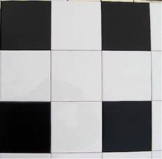 "6"" BLACK Tile Transfers - (30 per pack)"