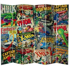 Your Kid Will Love You If You Get Him This 7-foot Marvel Comic Book Room Divider