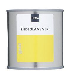 HEMA zijdeglans verf geel 7,25