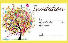Invitation anniversaire imprimer et tlcharger gratuitement invitation anniversaire arbre avec plein de ballons de diffrentes couleurs tlcharger et imprimer stopboris Gallery