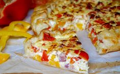 WW Sweet Pepper and Ham Quiche - Main Course and Recipe - light WW peppers and ham quiche, a delicious two peppers, yellow and red quiche, easy and simple to - Kfc Fried Chicken Recipe, Easy Chicken Recipes, Meat Recipes, Crockpot Recipes, Salad Recipes, Kfc Bowls Recipe, Easy Snacks, Easy Meals, Quiche Dish