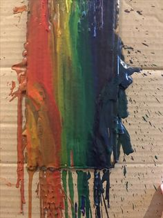 Crayon Art, Rainbow Art, 7 Year Olds, Abstract, Artwork, Painting, Art Work, Work Of Art, Auguste Rodin Artwork