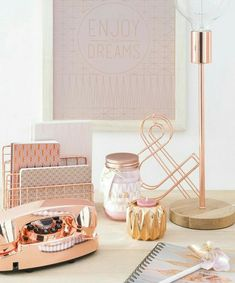 home accessories Metal letter holder copper color … The post home accessories appeared first on Best Pins for Yours - Diy Home and Decorations Rose Gold Rooms, Rose Gold Decor, Gold Bedroom, Bedroom Decor, Bedroom Ideas, Deco Pastel, Deco Rose, Cute Room Decor, Deco Design