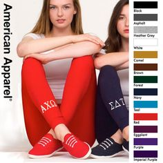 sorority leggings. I am not in Greek life but thought that @Melissa Squires Roe & @Delaney Parrish Andrews might like these :)