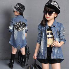 Куртка 2016 Весна Детская для девочек мода новый дизайн печати блесток Повседневная Детская одежда outwears дети Одежда для девочек