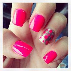 pink and silver polka dots -