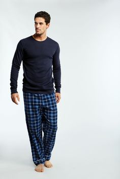 Club Room Men's Sleepwear, Crew Neck T-Shirt and Plaid Fleece ...