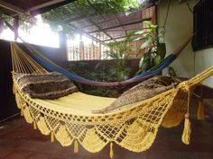 Magic Yellow Magic Hammock Hand Woven Natural Cotton by hamanica, $58.00  I NEED THIS!!!
