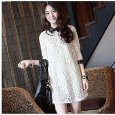 Long Sleeves Loose Lace Maxi Dress