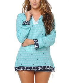 Look at this Haute Latitude Aqua Anchors Carefree Tunic on #zulily today!
