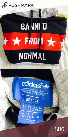 BANNED FROM NORMAL Adidas x Rita Ora Hoodie LIKE NEW *only worn twice* ADIDAS x RITA ORA Banned From Normal Hoodie. Price is negotiable. Feel free to make an offer! Adidas Tops Sweatshirts & Hoodies