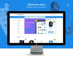 """Check out new work on my @Behance portfolio: """"Electronic store"""" http://be.net/gallery/59258897/Electronic-store"""