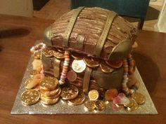 Pirate Chest birthday cake - Daniels 3rd birthday - 2012