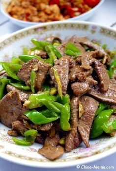 Pork liver is a good resource of iron and protein. A Chinese pork liver dish based on our family cooking. Marinated pork liver fried with green chilli, tender, hot spicy and full of nutrition.