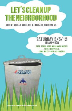 neighborhood clean up flyer template - Google Search | Won't you ...