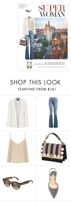 """""""SUPER WOMAN"""" by paint-it-black ❤ liked on Polyvore featuring Armani Jeans, Frame, Raey, Fendi and CÉLINE"""