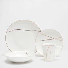 Golden edge porcelain dinnerware