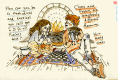 """beastlyworlds: """" Hermione and Ron, champions of bickering """""""