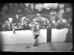 Original tv footage of Bobby Hull scoring his 50th and 51st goals of the season in 1966. His 51st goal broke the record for most goals in a season, which he had been holding with Rocket Richard and Bernie Geoffrion.