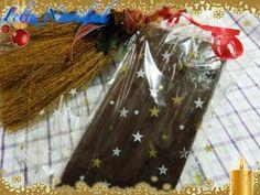 Turron de chocolate y krispies. Receta (recipe, recipe), comida (food, food)