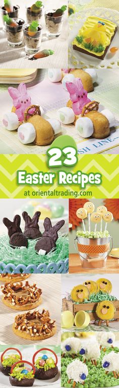 Easter Recipe Ideas | Delicious Easter recipes sprinkled with fun! #Easter #recipes