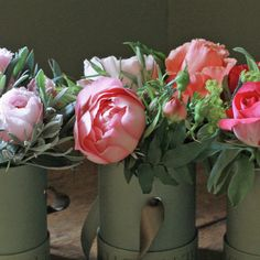 English Garden Rose and Herbs Hatbox Trio