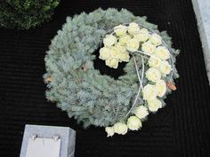 Memorial flowers: Arrangements for all Saints Day and the holidays ceremonies… Funeral Flower Arrangements, Christmas Arrangements, Funeral Flowers, Floral Arrangements, Contemporary Flower Arrangements, Casket Sprays, Grave Decorations, Memorial Flowers, Funeral Planning