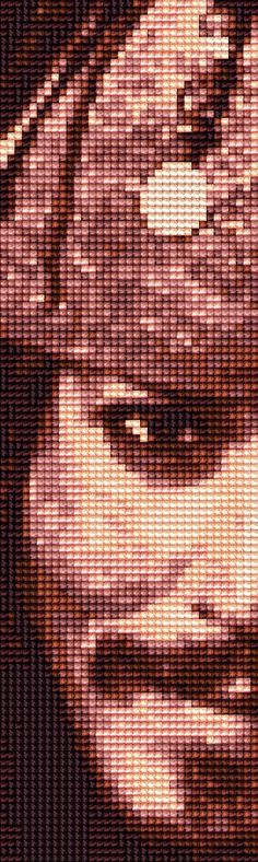 Jack Sparrow - Cross Stitch bookmark PATTERN by shingorengeki on deviantART