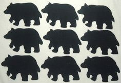 9 Easy to Use Lodge/Cabin Black Bear Fabric by MarsyesShoppe