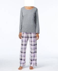 New with tagsCharter Club Scoop-Neck Top and Fleece Pants Pajama Set Soft Plaid Size 2XL, 3XL Snuggle up to the festive holiday spirit of Charter Club's fleece