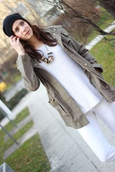 [Outfit] All White. Daniel Wellington, Ralph Lauren, Trends, All White, Parka, Rebecca Minkoff, Bags, Outfits, Fashion