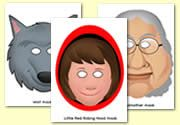 Little Red Riding Hood Role Play Masks and Other Resources, maskers roodkapje Little Red Ridding Hood, Red Riding Hood, Early Years Classroom, Teaching Activities, Teaching Ideas, Traditional Tales, Jack And The Beanstalk, Classroom Rules, Wolf