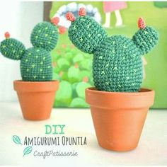 cactus amigurumi patron gratis terrario cactus ganchillo crochet paso a paso español cactus kawaii cute peluche hecho a mano diy craft