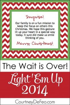 Light 'Em Up 2014- what Christmas is all about! 100 ideas/examples
