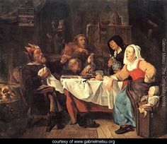 The Feast of the Bean King  Gabriel Metsu