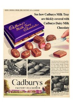 Iposters Cadburys Milk Tray Chocolate Advert Print Magnetic Memo Board Silver Framed - 41 X 31 Cms (approx 16 X 12 Inches) Old Sweets, Vintage Sweets, Vintage Candy, Vintage Food, Vintage Signs, Vintage Advertising Posters, Vintage Advertisements, Vintage Posters, Retro Ads