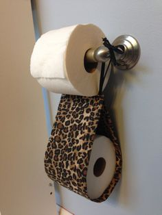 Leopard Print Spare Toilet Paper Holder by SimplySassySweet Leopard Print Outfits, Cheetah Print, Leopard Print Bathroom, Apt Ideas, Makeup Rooms, Household Items, Toilet Paper, Decoration, Home Goods